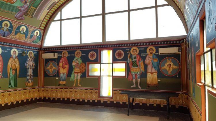 """Realizare pictură murală, Capela cimitirului orașului Buftea """"Cimitir Raiciu"""""""