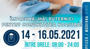 Maraton de vaccinare la Buftea – 14 – 16.05.2021